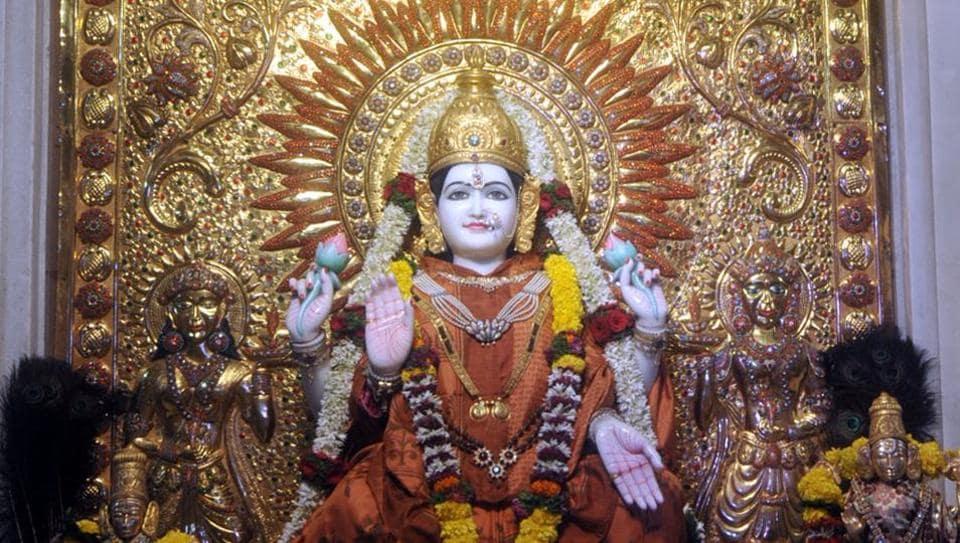 Shishmahal-Mahalaxmi Mandir at Saras Baug in Pune.