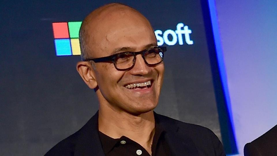 Microsoft CEO Satya Nadella during an event in Bangalore.