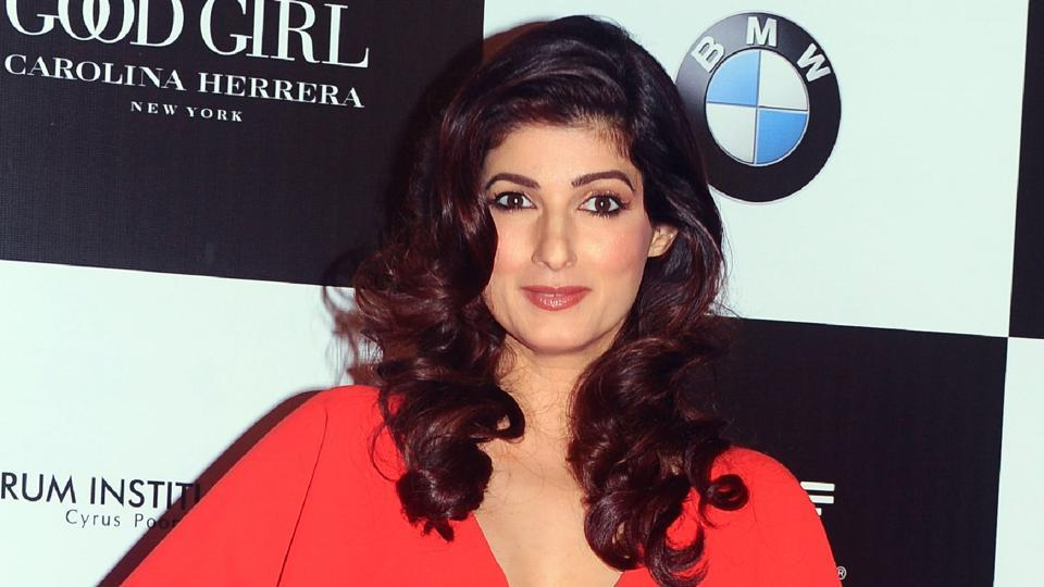 Twinkle Khanna poses for a photo during the 10th edition of the Vogue Women of the Year Awards.