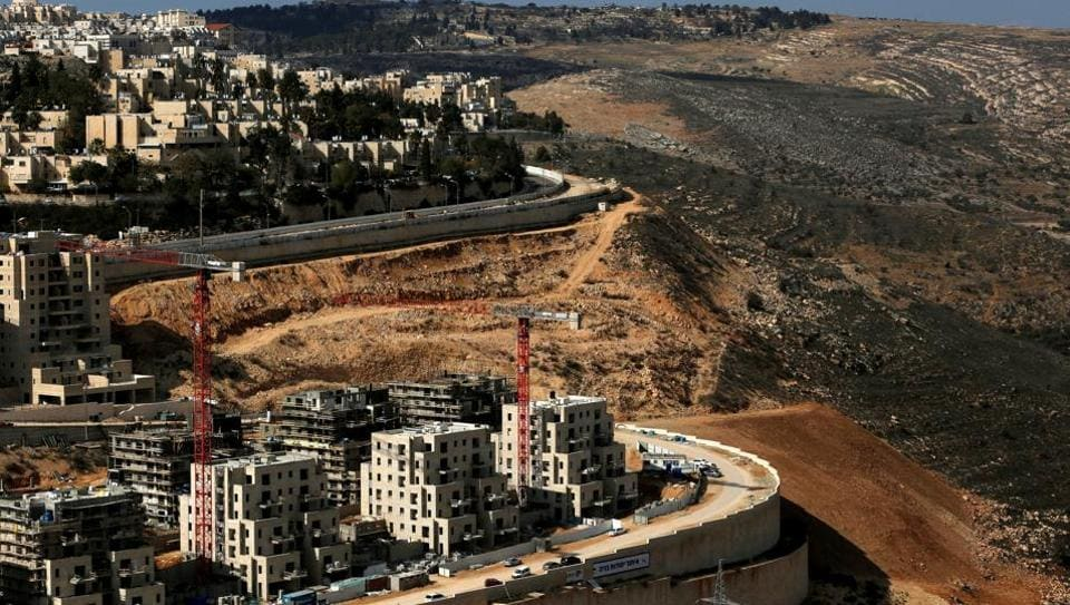 A general view shows the Israeli settlement of Ramot in an area of the occupied West Bank that Israel annexed to Jerusalem.