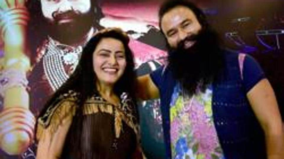 In this file photo, Honeypreet Insan is seen with jailed Dera Sacha Sauda chief Gurmeet Ram Rahim Singh.