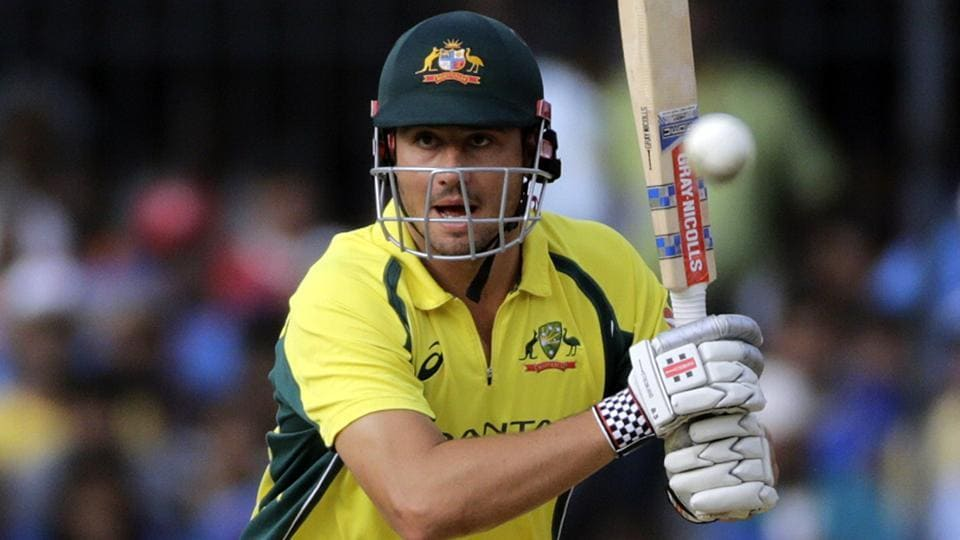 Australian cricket team player Marcus Stoinis bats during the third ODI against India in Indore.