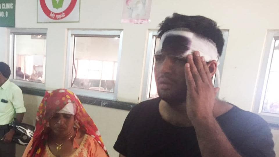 Sohit Boken and his mother, Mukesh Devi, received injuries to their head and were treated at the Civil Hospital.