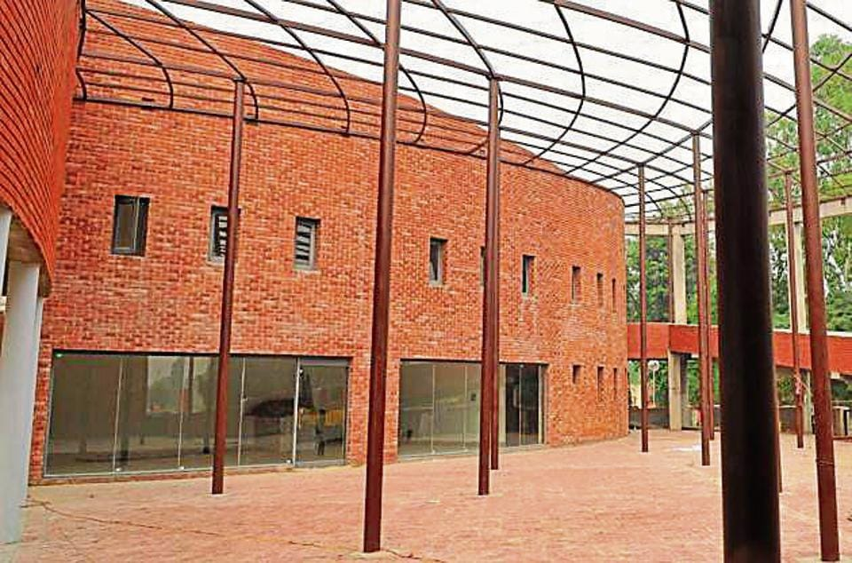 The new museum at Khatkar Kalan village, the native village of Shaheed Bhagat Singh in SBSNagar. Officials say construction work on the building is complete, but installation of artworks in the galleries is yet to start.