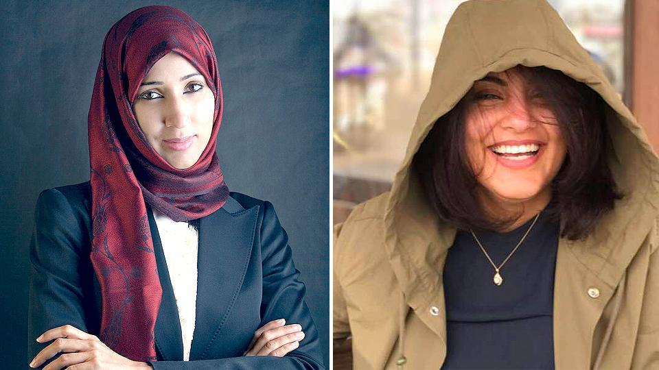 Combination image of Manal al-Sharif and Loujain al-Hathloul.