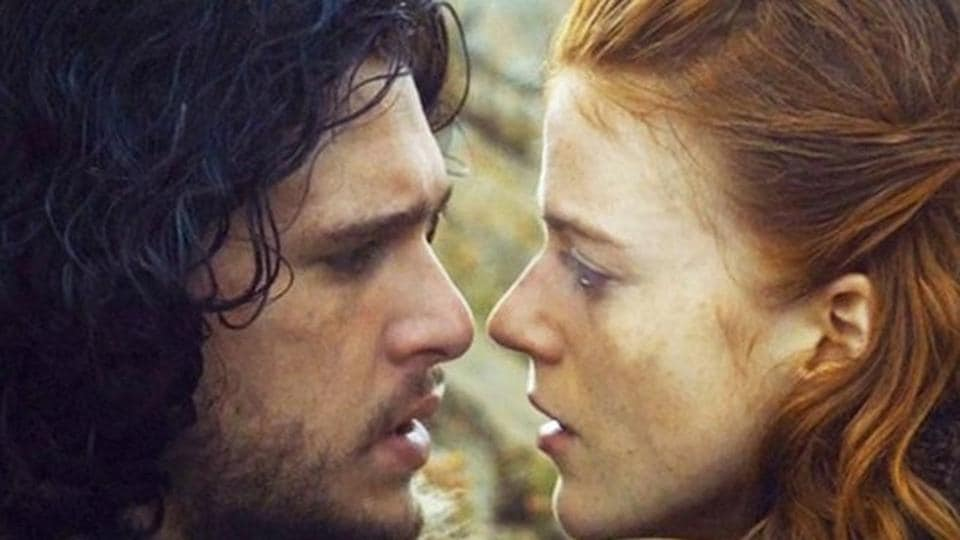 Kit Harington and Rose Leslie began dating while shooting for Game of Thrones.