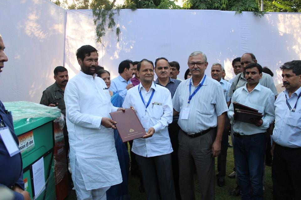 Union minister of consumer affairs, food and public distribution, Ram Vilas Paswan, was also present at the event where the MoU was signed.