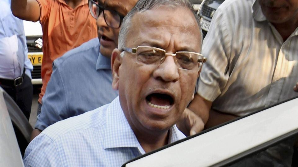 Banaras Hindu University vice-chancellor Girish Chandra Tripathi talks to the media after a meeting at IIC in New Delhi on Tuesday.