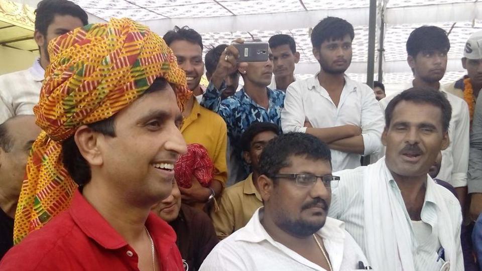 AAP Rajasthan in-charge, Kumar Vishwas at Rajasthan University.
