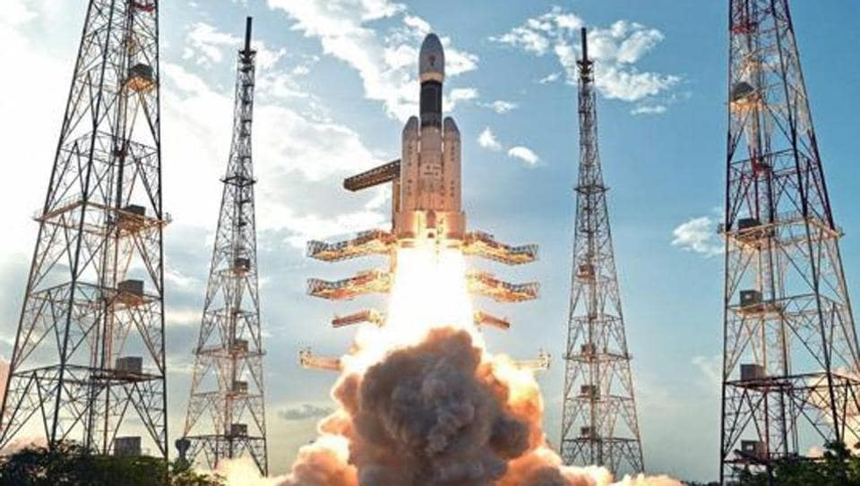 Isro's heaviest rocket GSLV Mk 3 takes off from Satish Dhawan Space Centre in Sriharikota . Chandrayaan 2 will be launched on GSLV Mk 2.