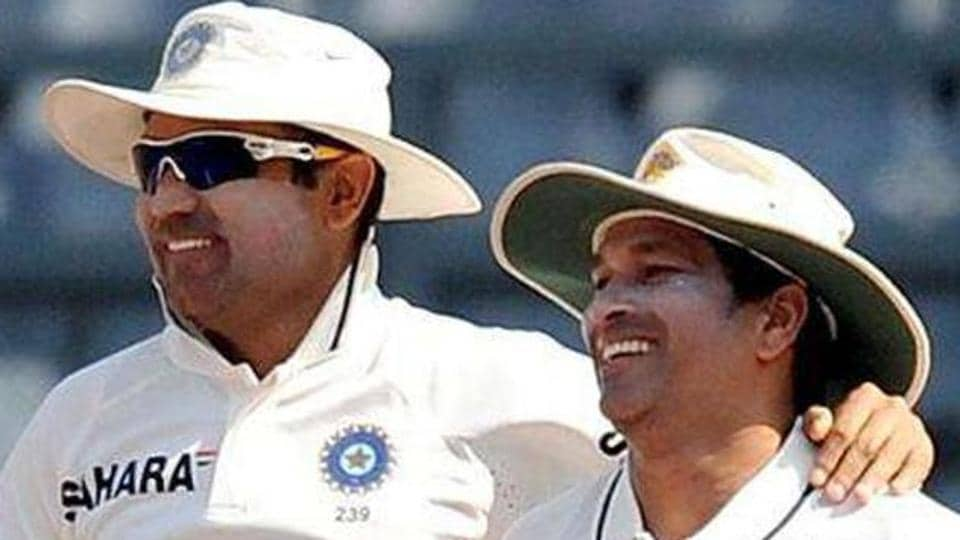 Sachin Tendulkar (C) and and Virender Sehwag have played a lot of cricket together for the Indian cricket team.