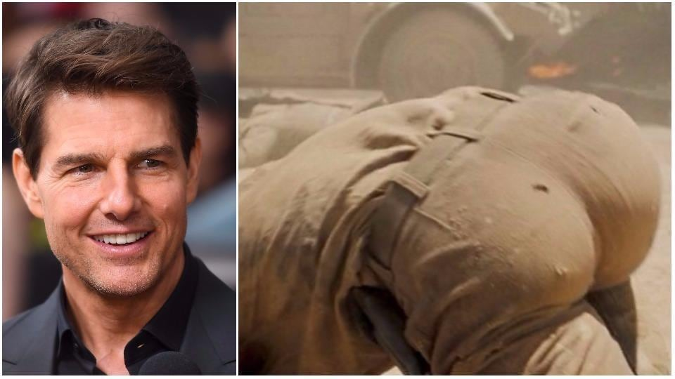Tom Cruise's butt? Is it really him?