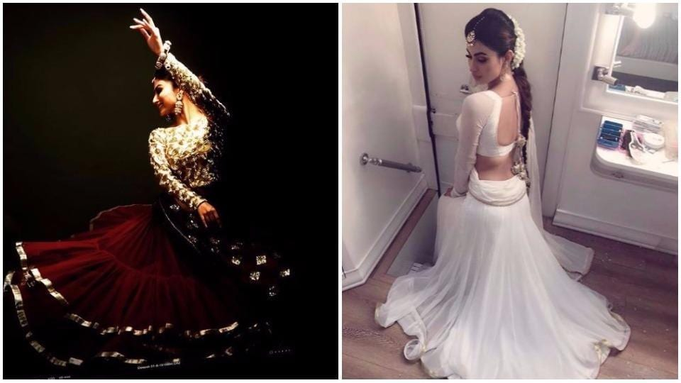 Mouni Roy proves it on the daily that nothing looks sexier that traditional Indian wear.