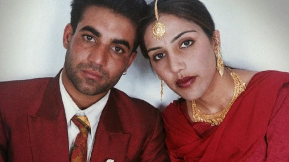 A file picture of Jassi Sidhu with her husband Mithu Singh.  In June 2000, Jassi's body was found next to a canal. Punjab Police allege her mother gave the final order for her death in a telephone call from Canada.