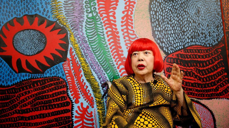 Japanese avant-garde artist Yayoi Kusama, known for her obsessive, dot-covered art and pumpkin motifs, as well as the use of mirrors to create mystical 'Infinity Rooms' is opening a museum in Tokyo that could only be hers. The 88-year-old, named the world's most popular artist in 2014 by the Art Newspaper, said she had accomplished her 'profound lifelong hope of having everyone be able to see my artwork'. (Toru Hanai / REUTERS)