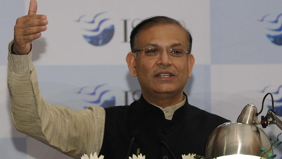 Union minister Jayant Sinha at an event in Mohali.