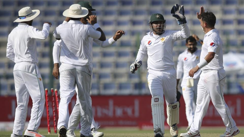 The Pakistan cricket team took four Sri Lanka wickets on Day 1 of the 1st Test in Abu Dhabi. Get full cricket score and full updates of Pakistan vs Sri Lanka, 1st Test, here.