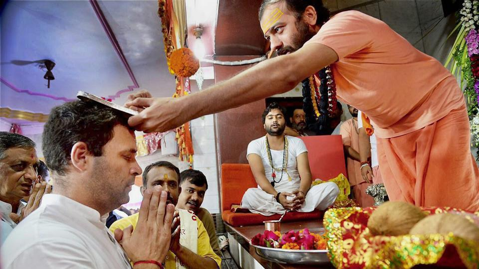 Image result for rahul gandhi hindu