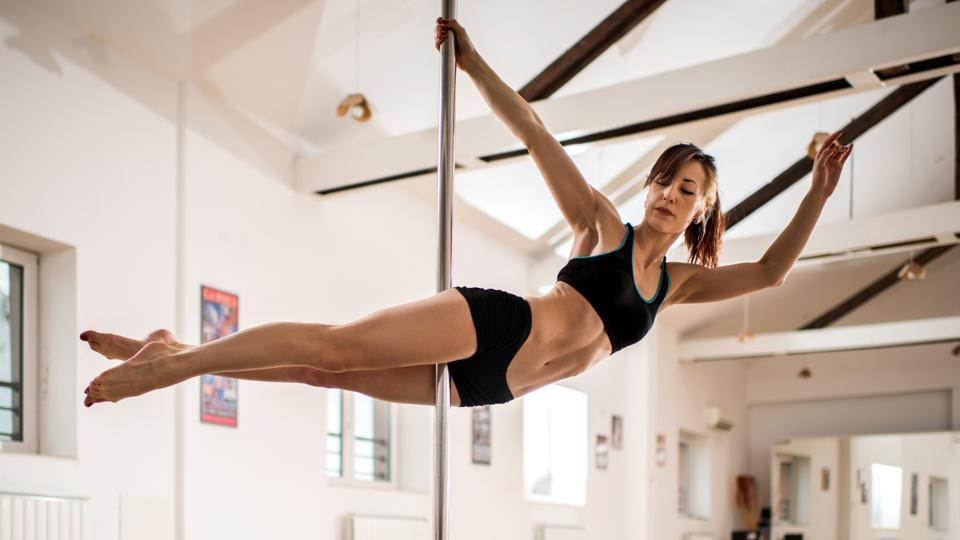 Pole dance or pole fitness is an emerging fitness trend which works on the full body.