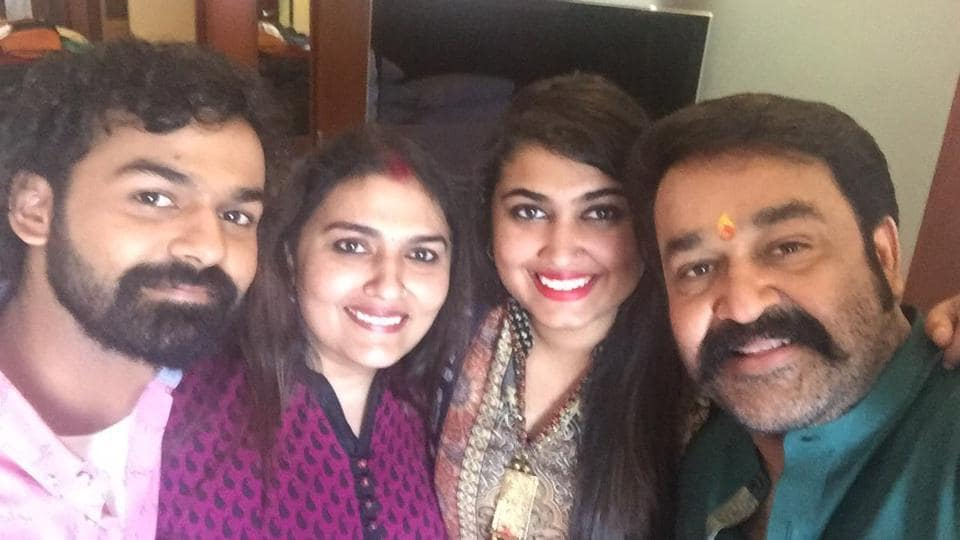 Mohanlal shared a picture of his family -- wife Suchitra, son Pranav and daughter Vismaya -- on Friday.
