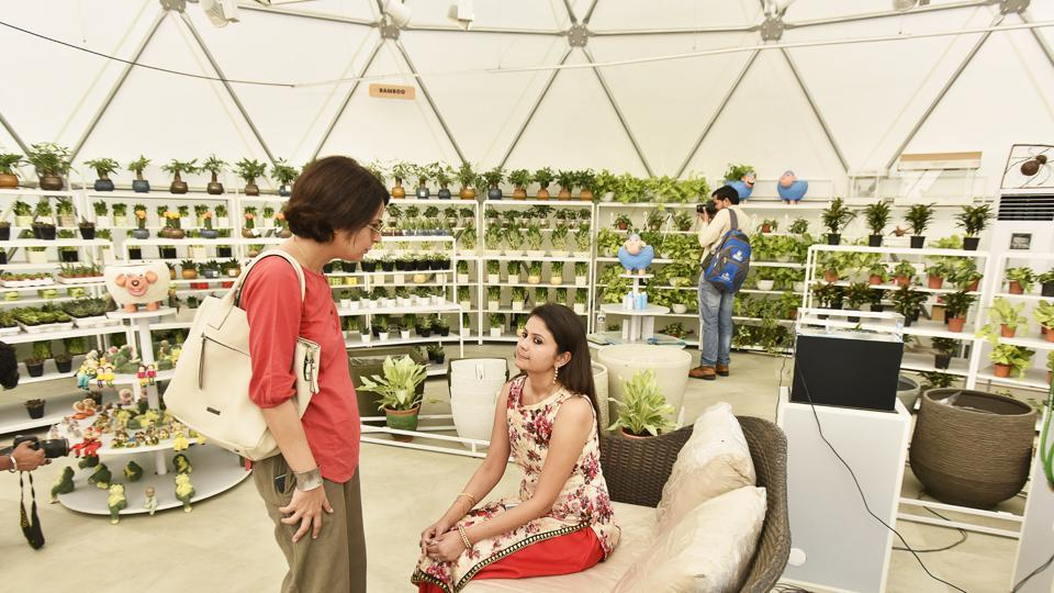 An O2 chamber was launched by Goel at the venue where people can inhale pure oxygen as the unit has air purifying plants.