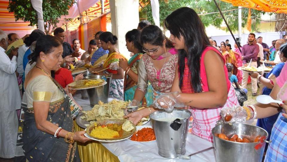 Banga Bharti durga puja and Kali puja near Masulkar colony, Pimpri-Chinchwad in Pune on Thursday.