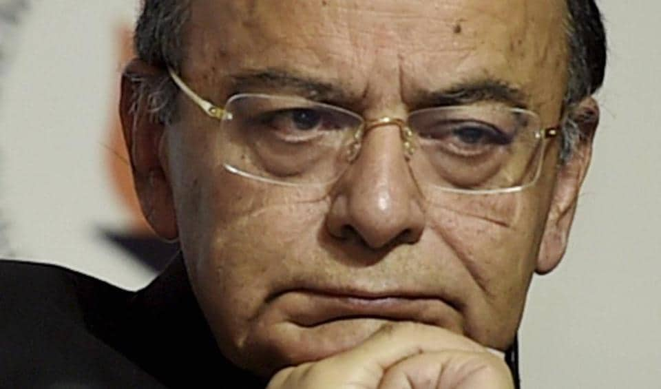 Finance Minister Arun Jaitley at the release of the book 'India @ 70 Modi @ 3.5' in New Delhi on Thursday.