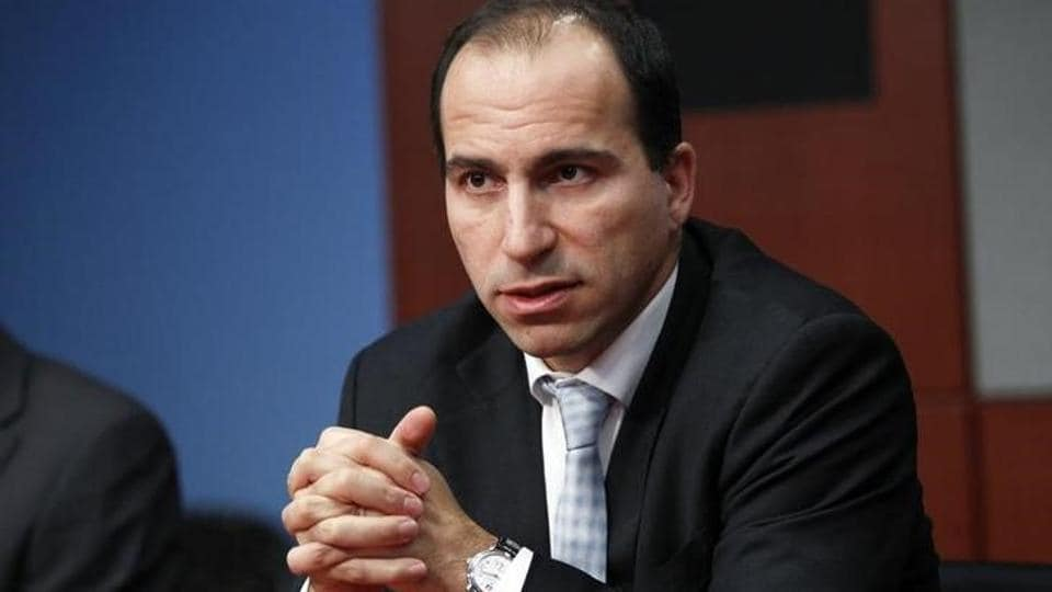 Dara Khosrowshahi speaks during the 2010 Reuters Travel and Leisure Summit in New York February 22, 2010.