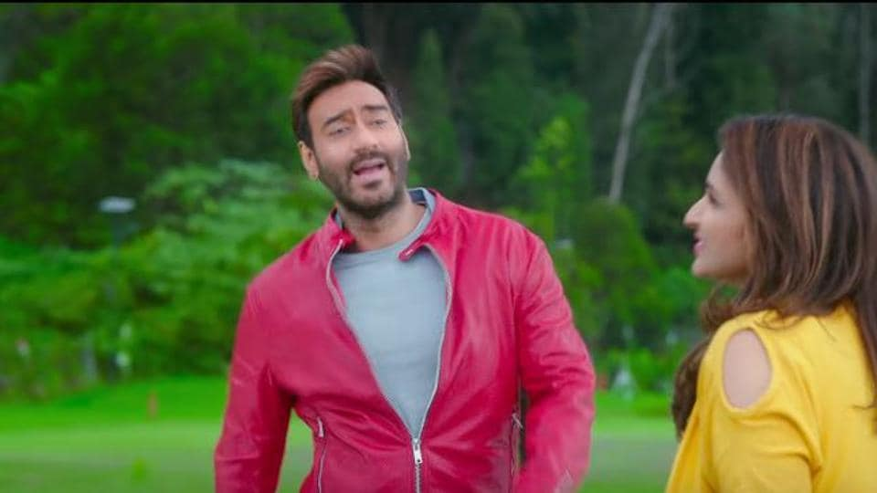 Ajay Devgn in a still from the new song, Maine Dekha Tujhko, from Golmaal Again.