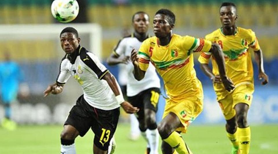 Ghana are grouped with India, USA, Colombia in the  FIFA U-17 World Cup.