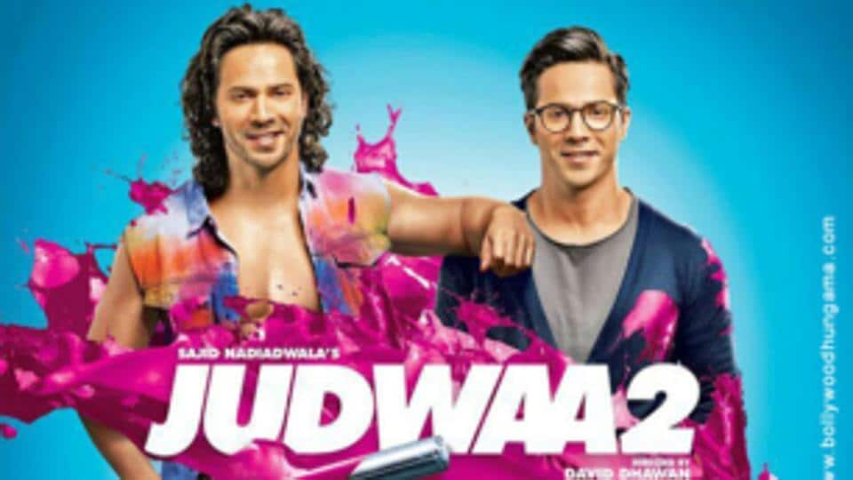 Varun Dhawan appears in the twin avatar of Raja and Prem in Judwaa 2.