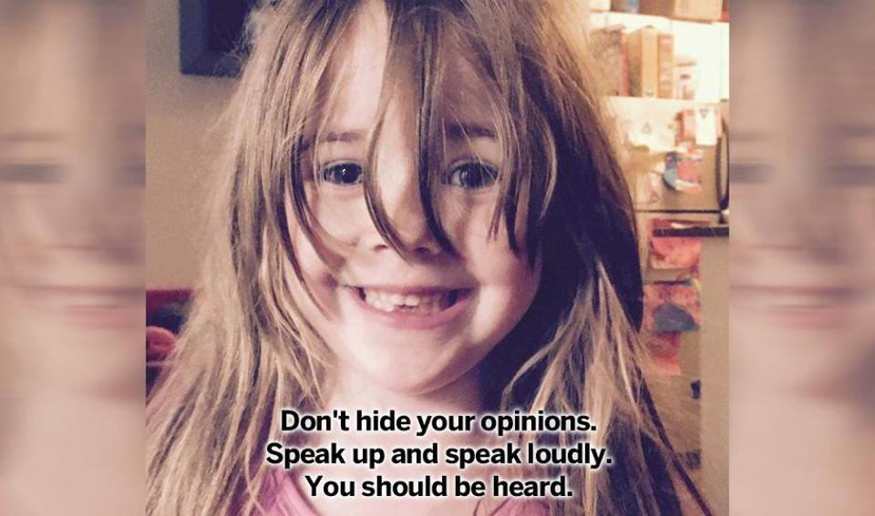 A letter from a mother to her five-year-old daughter is inspiring parents the world over.