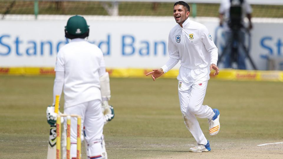 Keshav Maharaj took a three-wicket haul on Day 3 of the first Test between South Africa and Bangladesh at Senwes Park, Potchefstroom.
