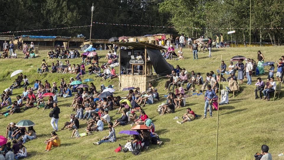 The Ziro Festival of Music draws visitors from all over India, who travel a great distance to enjoy the best of indie music under the vast outdoors and rolling lush greens of the Ziro valley in Arunachal Pradesh. (Paroma Mukherjee / HT Photo)