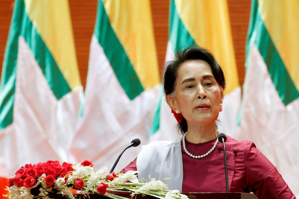 File photo of Myanmar state counsellor Aung San Suu Kyi.