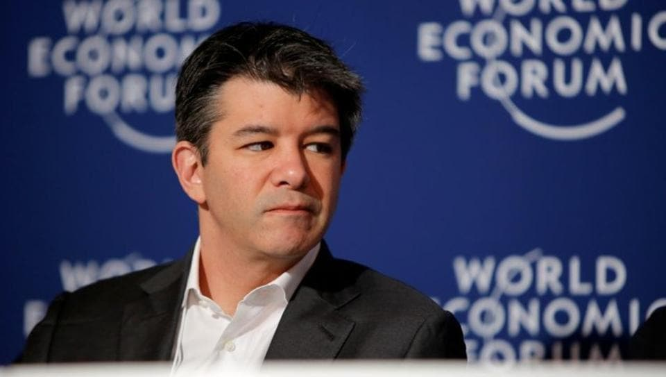 Uber CEO Travis Kalanick attends the summer World Economic Forum in Tianjin, China.