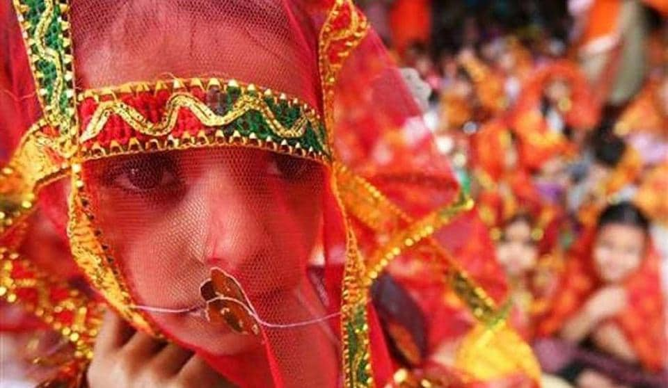 Incidence of child marriage in Bihar was 39.17% in 2015-16, versus national average of 26.8