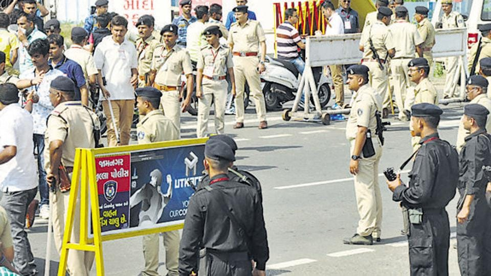 Many Gujarat Police officials were transferred by the home department on Saturday. (HTfile photo / Representational)