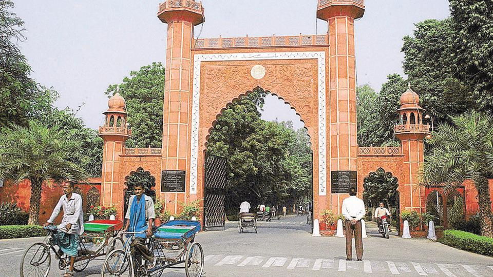 A central committee said Aligarh Muslim University runs a number of schools and students passing out of these take admission in the university and in many cases are then considered for faculty positions and end up getting absorbed too. (HTfile photo)