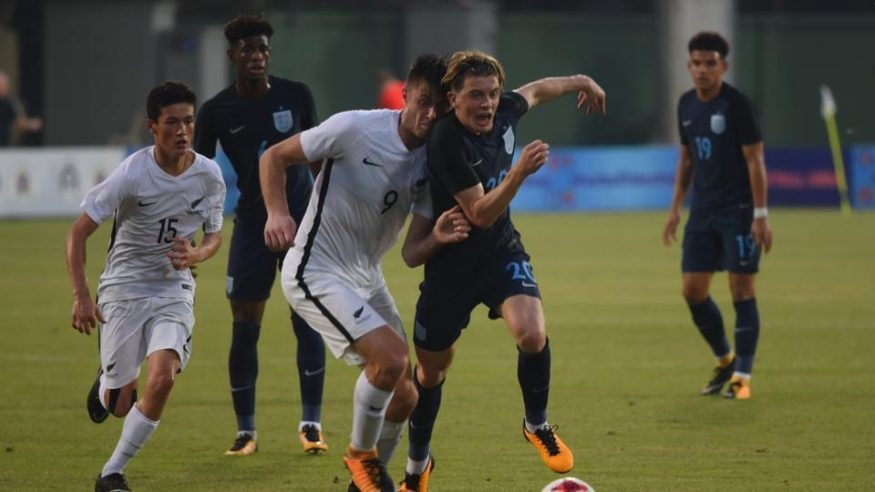 England edged out New Zealand 3-2 in their practice match ahead of the FIFA U-17 World Cup.