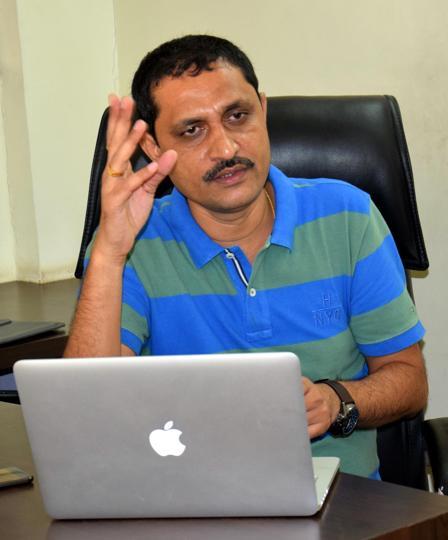 Santosh Maskar,chairman of Roseland Residency.