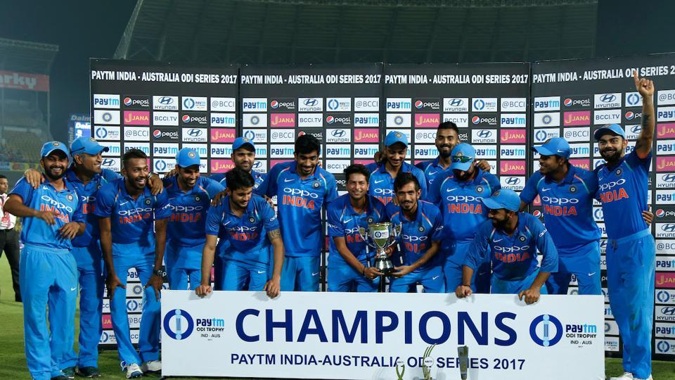 Rohit Sharma's century and Axar Patel's 3/38 in the Nagpur ODI guided the Indian cricket team to 4-1 series win against Australia on Sunday. (BCCI )