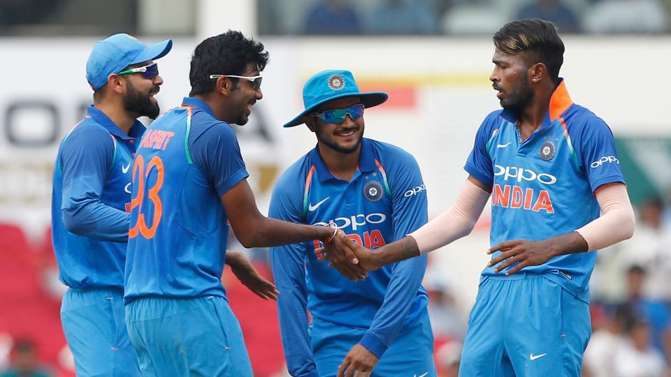 Hardik Pandya provided India the first breakthrough as he removed Finch in the 12th over.  (BCCI )