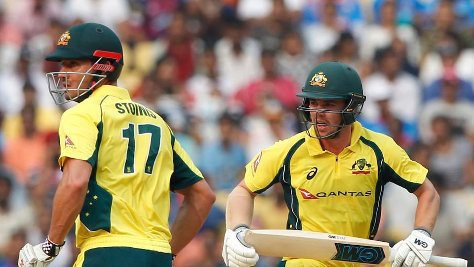 Travis Head and Marcus Stoinis steadied Australia's ship with a 87-run stand.  (BCCI )