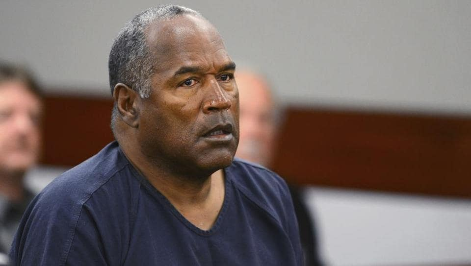 In this May 14, 2013, file photo, O.J. Simpson appears at an evidentiary hearing in Clark County District Court in Las Vegas. A Nevada prison official said early Sunday, Oct. 1, 2017, O.J. Simpson, the former football legend and Hollywood star, has been released from a Nevada prison in Lovelock after serving nine years for armed robbery.
