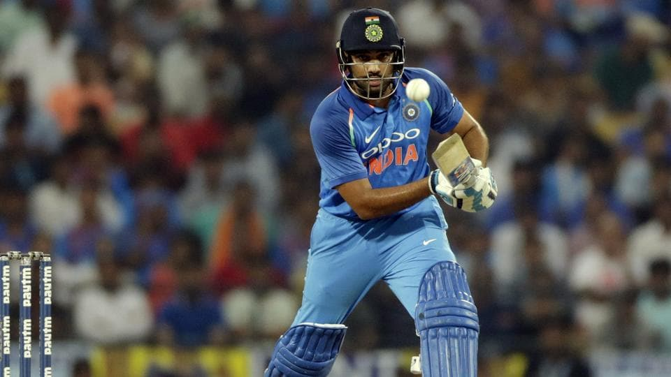 Rohit Sharma in action during the fifth one-day international cricket match between India and Australia in Nagpur.