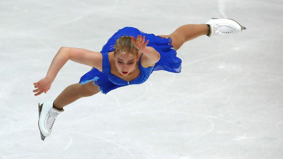 Viveca Lindfors of Finland performs in the Figure Skating competition during Olympic Qualifying ISU Challenger Series - Oberstdorf, Germany. (Michael Dalder / Reuters)