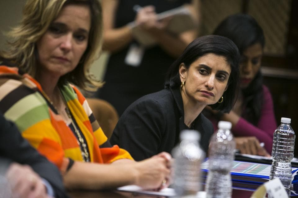 File photo of Seema Verma, the administrator of the Centres for Medicare and Medicaid Services.