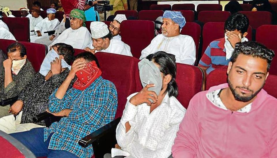Arab Sheiks arrested by the Hyderabad Police on September 20, when they came to the city in search of child brides.