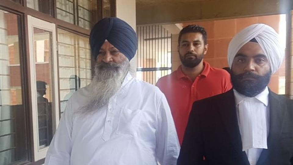 Rape accused Akali leader Sucha Singh Langah in a Chandigarh court on Monday.